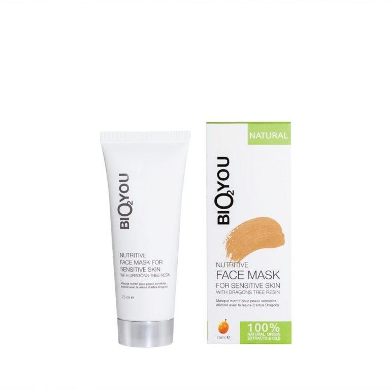 Verzorgend gezichtsmasker voor de gevoelige huid met drakenbloedboom hars Bio2You