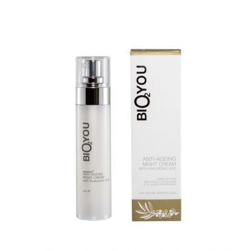 Natuurlijke antiveroudering nacht crème met hyaluronzuur Bio2You
